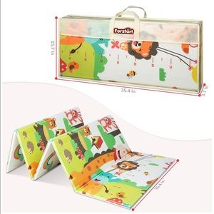 Forstart Foldable Double Sided Baby Kids Play Mat
